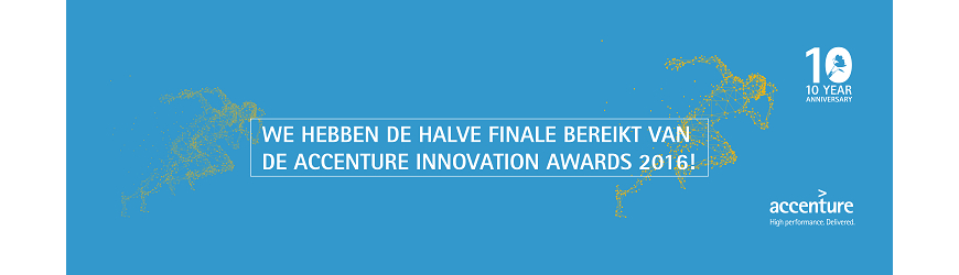 ThreadStone doorgedrongen tot halve finales van de Accenture Innovation Awards!!