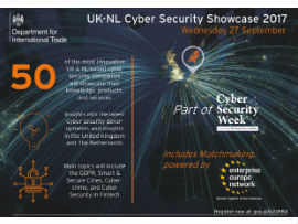 ThreadStone actief tijdens de Cyber Security week in de UK-NL Cyber Security Showcase 2017