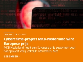 Cybercrime-project MKB-Nederland wint Europese prijs